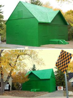 monopoly_house, green, house, oversize, idea