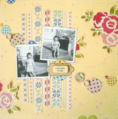 A Moment In Time Layout - Sketch Challenge by Two Crazy Crafters, via Flickr