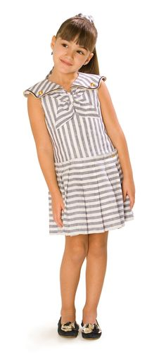 The perfect little sailor!     Sailor Nautical Girl dress -   Pili Carrera - USA - Girl Collections