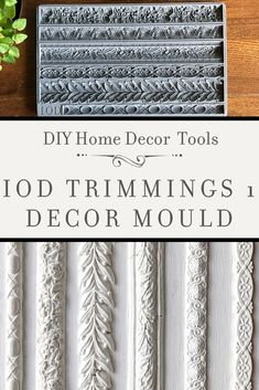 IOD MOULDS FALL 2019 - Adding vintage three-dimensional details to your painted furniture and home decor projects has neve - Diy Home Decor Projects, Craft Projects, Project Ideas, Diy Furniture Appliques, Farmhouse Style Furniture, Iron Orchid Designs, Handmade Home Decor, Handmade Gifts, Rustic Wall Art