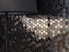 Metal Acero Hexagon Highlights 32x29,7x0,8 cm