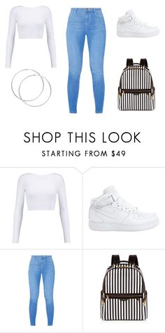 """White"" by aderrica-hair on Polyvore featuring Cushnie Et Ochs, NIKE, Dorothy Perkins and Henri Bendel"