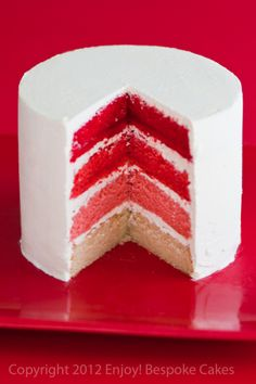 Red Ombre Cake
