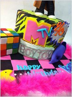 80's themed cake - by hotmamascakes @ CakesDecor.com - cake decorating website