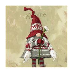 Christmas Canvas, Christmas Gnome, Christmas Paintings, Christmas Art, Christmas Ornaments, Father Christmas, Rustic Christmas, Christmas Ideas, Gnome Paint