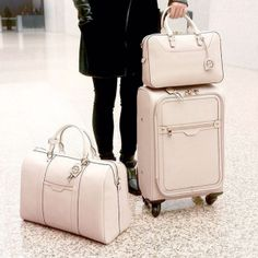 <p>Aspen, Sedona, Bora Bora, Tokyo. Wherever you're going, Bendel girl, go like the fashionista you are with the West 57th 360 Wheelie. Crafted with Saffiano leather and featuring satin lining, smart pocket design, a telescoping recessed handle and the most efficient 360˚ wheels and feet, you won't be globetrotting as much as globe gliding.</p>