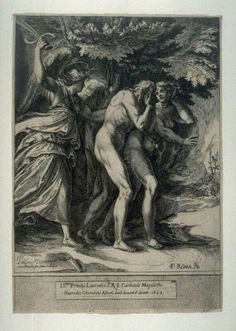 Expulsion of Adam and Eve  Artist:  Cherubino Alberti  After:  Polidoro da Caravaggio