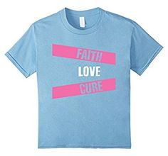 Faith Love Cure Breast Cancer Awareness Pink Support T-Shirt. Available here: https://www.amazon.com/Breast-Cancer-Awareness-Support-T-Shirt/dp/B01LXDQ2FD  #cancer #breastcancer #breastcancersupport #cancershirt #tshirt