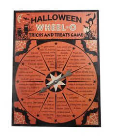 "When+October+comes+around+,+this+Halloween'+O+Game+is+never+found.++It+brings+back+memories+of+yesterday,+while+spinning+the+spinner+to+swee+what+it'll+say.++This+wheel+is+made+of+tin+and+measures+17""+x+12+1/2""++"".++He+is+sure+to+make+your+Halloween+a+fun+one.++"