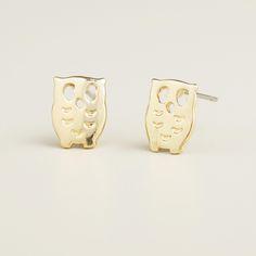 Gold Owl Stud Earrings | World Market
