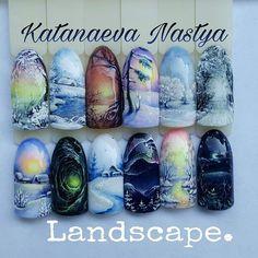 Курс Landscape для рисующих мастеров. Сложный.Умение рисовать тонкие линии в геле обязательно☝