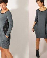 Kantig kleid | leni pepunkt