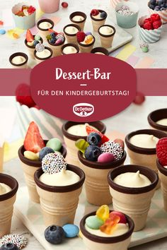 Dessert bar - dessert bar: do-it-yourself dessert with fruit and candy . - Dessert bar – dessert bar: do-it-yourself dessert with fruits and sweets # child - Desserts For A Crowd, Fancy Desserts, Ice Cream Desserts, Lemon Desserts, No Bake Desserts, Elegant Desserts, Fancy Appetizers, Dessert Bars, Dessert Table