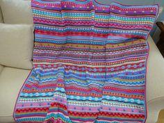 Ravelry: kerry warren Moroccan Bazaar Blanket, Mixed stripey pattern, Ravelry link