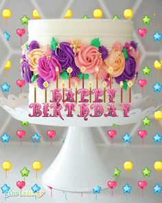 happy Birthday gif Wallpapers gave you good ideas for your soul mates. Birthday Cake Gif, Happy Birthday Wishes Cake, Birthday Wishes For Girlfriend, Happy Birthday Cake Images, Happy Birthday Video, Happy Birthday Daughter, Happy Belated Birthday, Happy Birthday Wallpaper, Happy Birthday Messages