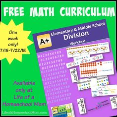 Free Elementary/Middle School Math Curriculum!