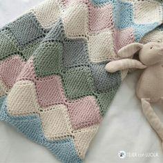 Afghan Crochet Patterns, Baby Knitting Patterns, Knitting Stitches, Knitted Baby Blankets, Baby Blanket Crochet, Crochet Home, Crochet Gifts, Crochet Patron, Crochet Scarves