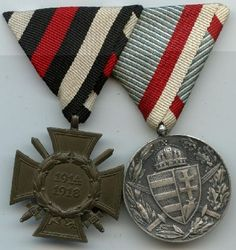 """post WW1 Commemorative medals– the second medal is the """" Hungary Commemorative Medal of the World War 1"""". This medal was instituted on 26 May 1929.   Here are some of the Imperial Germany & Austro-Hungary medals."""
