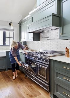 The Portland House Archives - Emily Henderson Kitchen Stove, Kitchen Chairs, Kitchen Furniture, New Kitchen, Kitchen Dining, Kitchen Decor, Kitchen Cabinets, Updated Kitchen, Office Furniture