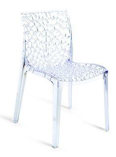 Creative Furniture Gruvyer Dining Chair, Transparent