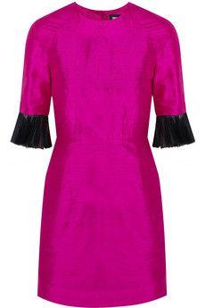 House of Holland Grace tulle-trimmed silk-shantung mini dress | NET-A-PORTER