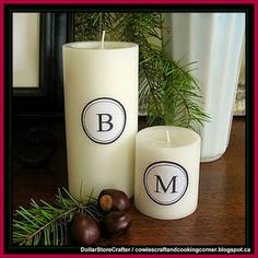 Dollar Store Crafter: Make Your Own Monogrammed Candles