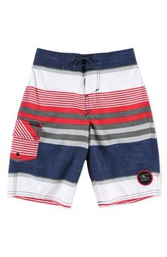 O'Neill 'Santa Cruz Stripe' Board Shorts (Little Boys)