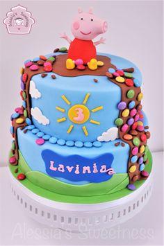 Peppa Pig Birthday and chocolate cake. Peppa Pig Birthday and chocolate cake. Tortas Peppa Pig, Bolo Da Peppa Pig, Fiestas Peppa Pig, Peppa Pig Cakes, Peppa Pig Cupcake, Number Birthday Cakes, Peppa Pig Birthday Cake, Birthday Cake Girls, Disney Birthday