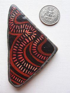 Rekindle Stones 11 : hand painted ocean stone