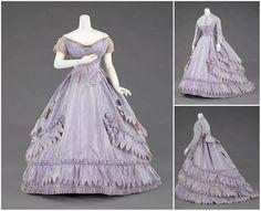 1862. Evening ensemble. Silk. metmuseum.