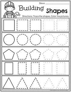 Looking for fun Preschool Construction Theme Activities for kids? Check out these 16 Hands-On Construction Learning Activities and Crafts for Preschool or Kindergarten. Daycare Themes, Preschool Themes, Preschool Learning, Preschool Activities, Preschool Workbooks, Kindergarten Worksheets, Construction Theme Preschool, Shapes Worksheets, Tracing Worksheets