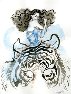 "My ""13 zodiacs"" series drawings. Prints are for sale at www.society6.com/anniephan"