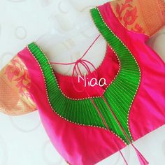 blouse designs latest 20 Stunning Blouse Designs with Net - lucifer Patch Work Blouse Designs, Simple Blouse Designs, Saree Blouse Neck Designs, Hand Work Blouse Design, Stylish Blouse Design, Blouse Designs Catalogue, Designer Blouse Patterns, Latest Blouse Patterns, Phulkari Saree