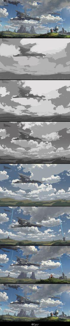 查看《浅谈云的绘画表现》原图,原图尺寸:1432x6667