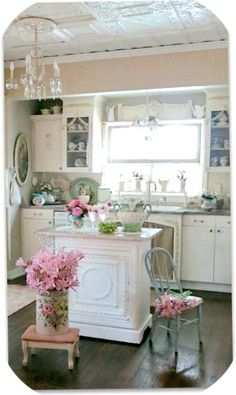 → SHABBY CHIC HOME. I like that island but idk how it's made. A lot more excellent shabby chic furniture suggestions on my web site. Cottage Shabby Chic, Cocina Shabby Chic, Shabby Chic Mode, Shabby Chic Kitchen Decor, Shabby Chic Living Room, Shabby Chic Bedrooms, Shabby Chic Style, Shabby Chic Furniture, Romantic Cottage