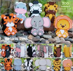 Zoo Animal Treat Box Collection
