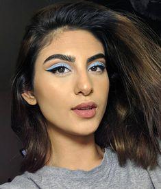 Pinterest: DEBORAHPRAHA ♥️ baby blue eyeshadow and eyeliner