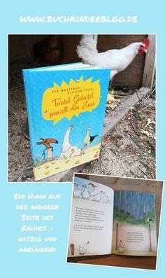 Trudel Gedudel purzelt vom Zaun – Eva Muszynski, Karsten Teich – Buchkinderblog Happy End, Cover, Books, Books For Kids, Water Pond, Fence, Jokes, Advertising, Libros