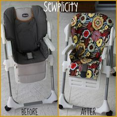 Fabric High Chair Seat Cover... something to think about