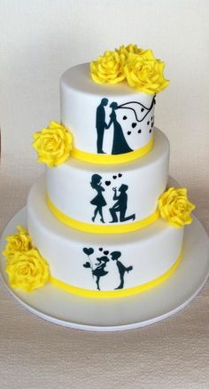 Wedding cake - cake by jitapa Fondant Cakes, Cupcake Cakes, Music Themed Cakes, Bolo Fack, Wedding Cake Photos, Wedding Cakes With Cupcakes, Just Cakes, Gorgeous Cakes, Occasion Cakes