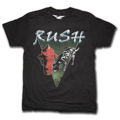 Rush Band Apparel | Rush T shirt - Euro Signals Tour - Classic Rock T shirts from Old ...