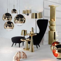 Lampe BASE TABLE en laiton brillant - TOM DIXON