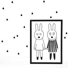 Muurstickers Drops, wall stickers, monochrome, babykamer, kinderkamer, kinderkameraccessoires, nursery, wall decoration
