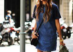 DIY inspiration denim dress sincerely jules
