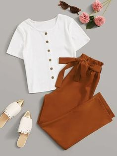 Cute Comfy Outfits, Cute Girl Outfits, Cute Summer Outfits, Pretty Outfits, Girls Fashion Clothes, Teen Fashion Outfits, Cute Fashion, Girl Fashion, Stylish Dress Designs