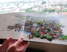 view from my window, #malang #watercolorsketch #urbansketchers #urbansketch #malangcity #jawatimur