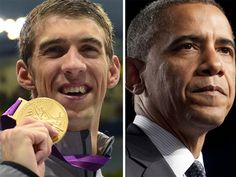 Obama to Phelps: 'You've made your country proud' (Getty Images)  Love Phelps <3