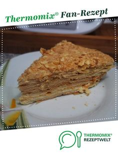 """Russische Torte """"Napoleon"""" Russian cake """"Napoleon"""" from Thermimania. A Thermomix ® recipe from the category baking sweet www.de, the Thermomix ® community. Dutch Recipes, Cuban Recipes, Russian Recipes, Baking Recipes, Cake Recipes, French Recipes, British Desserts, British Recipes, Napoleon Cake"""