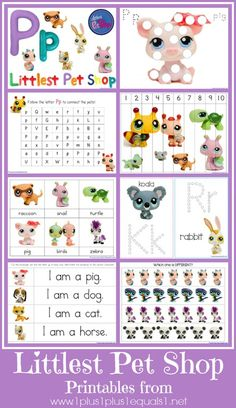 Littlest Pet Shop {free} Printables from www.1plus1plus1equals1.net