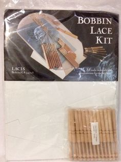 Lacis Bobbin Lace Kit -LB43 Complete Kit Tools Materials for Beginners NEW #Lacis
